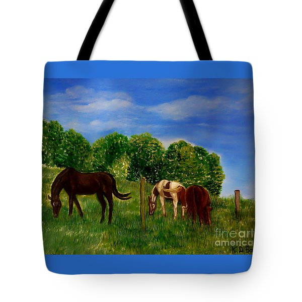 Field Of Horses' Dreams Tote Bag
