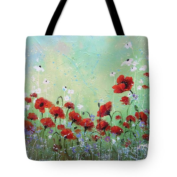 Tote Bag featuring the painting Field Of Imagination Two by Laura Lee Zanghetti