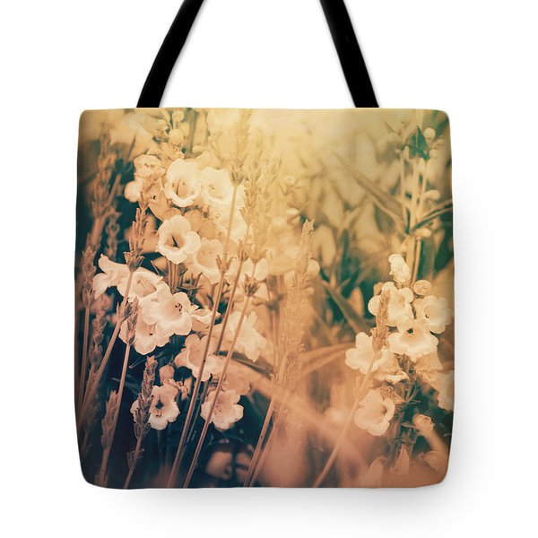Field Of Lavender And Penstemon Tote Bag