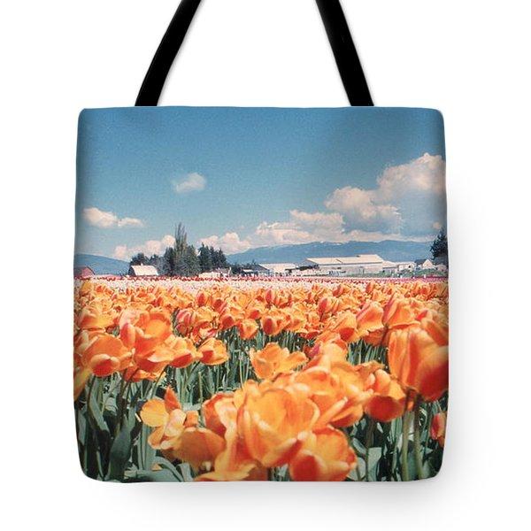 Field Of Orange Tote Bag