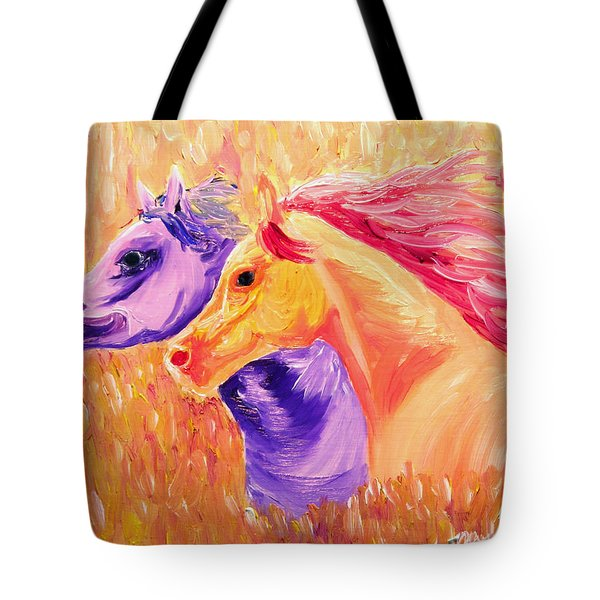 Field Of Orange Tote Bag by Michael Lee