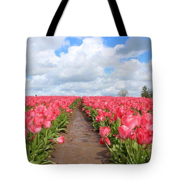 Field Of Pink Tote Bag