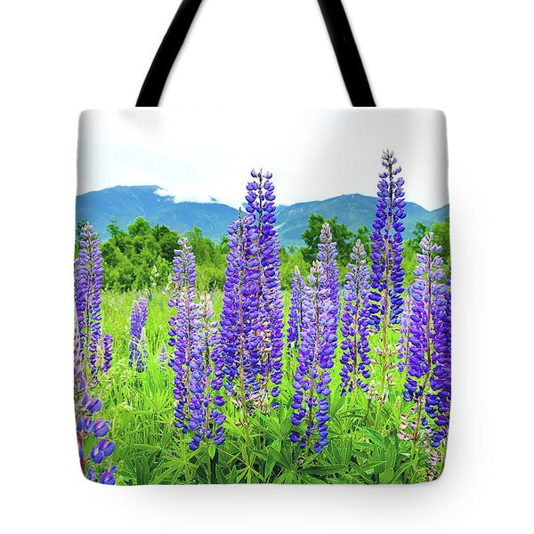 Tote Bag featuring the photograph Field Of Purple by Greg Fortier