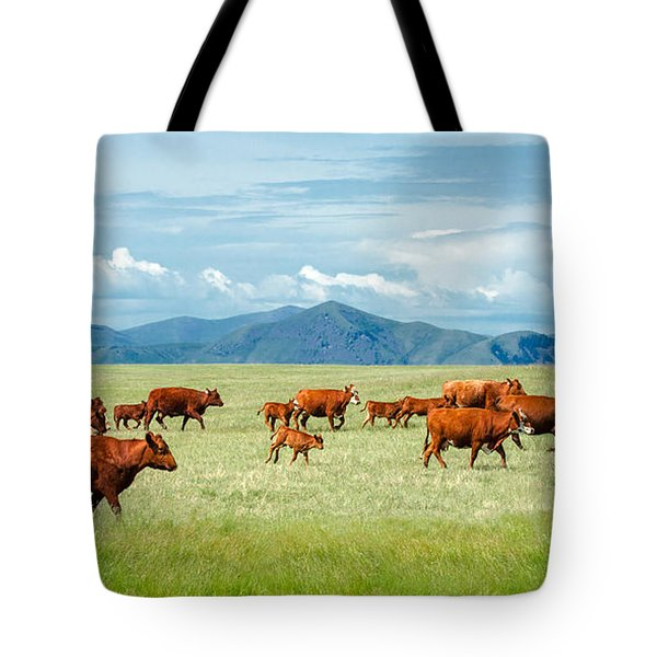 Field Of Reds Tote Bag