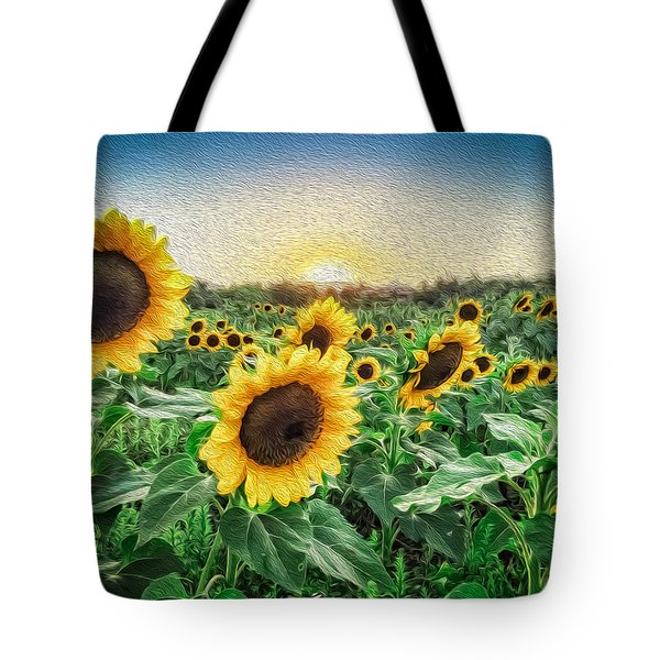 Field Of Sun Tote Bag