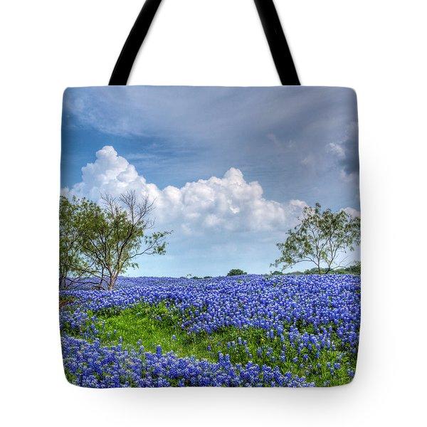 Field Of Texas Bluebonnets Tote Bag