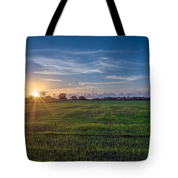 Field Sunset Tote Bag