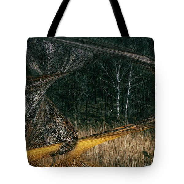 Field Warping Tote Bag