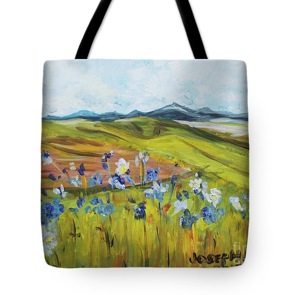 Field With Flowers Tote Bag