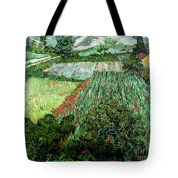 Field With Poppies Tote Bag by Vincent Van Gogh