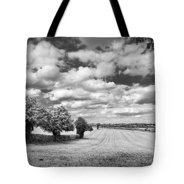 Fields And Clouds Tote Bag