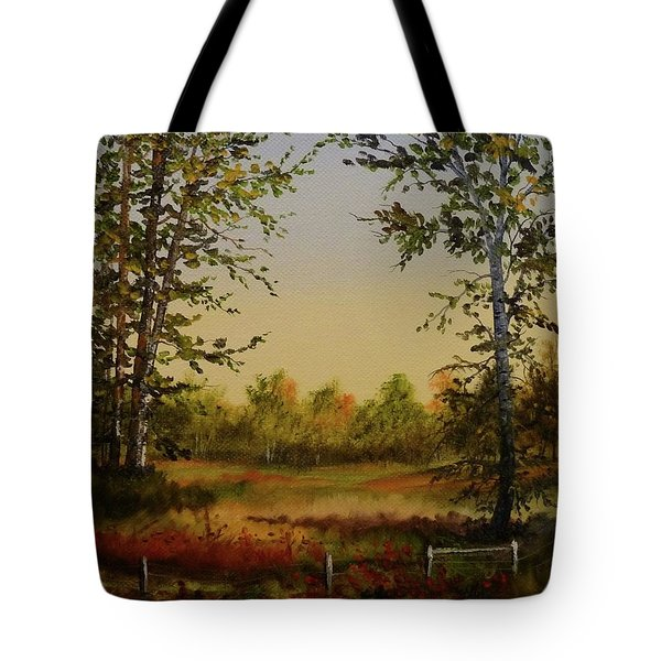 Fields And Trees Tote Bag