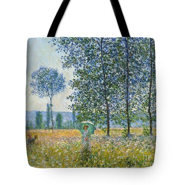 Fields In Spring, 1887 Tote Bag