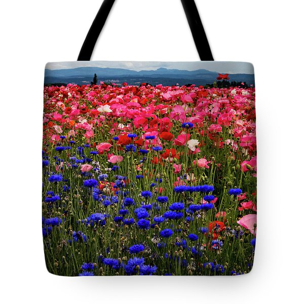 Fields Of Flowers Tote Bag