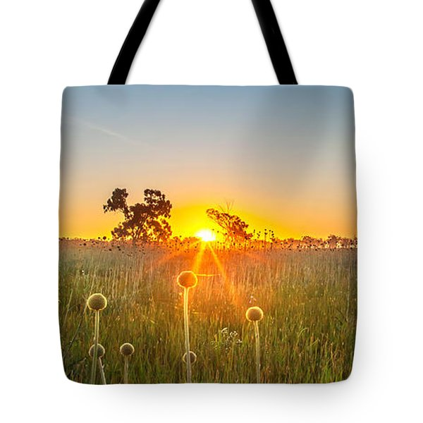 Fields Of Gold Panorama Tote Bag