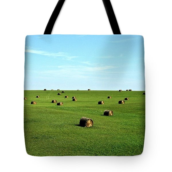 Fields Of Green Tote Bag by Mark Mickelsen