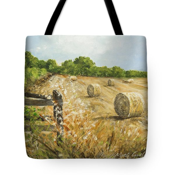 Fields Of Hay Tote Bag by Marty Garland