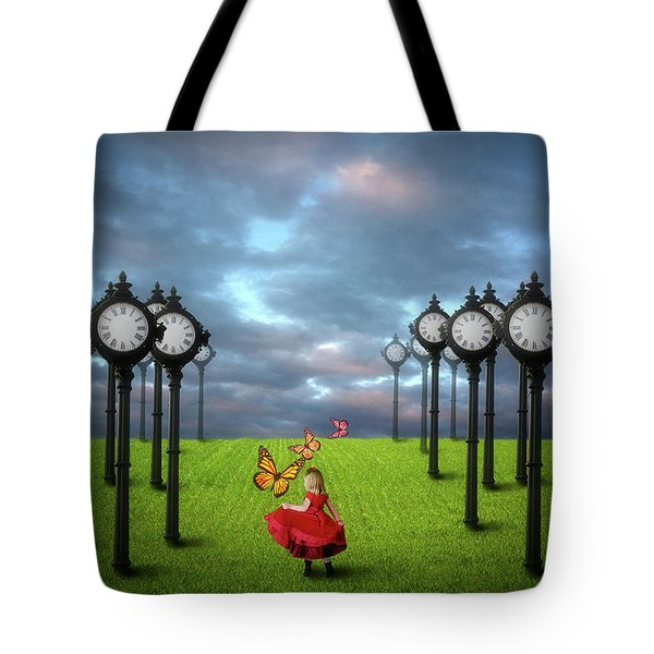 Fields Of Time Tote Bag by Nathan Wright