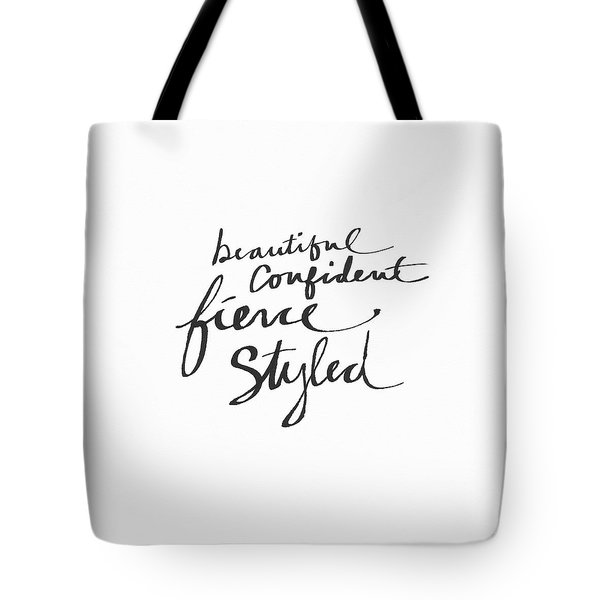Fierce And Styled Black- Art By Linda Woods Tote Bag