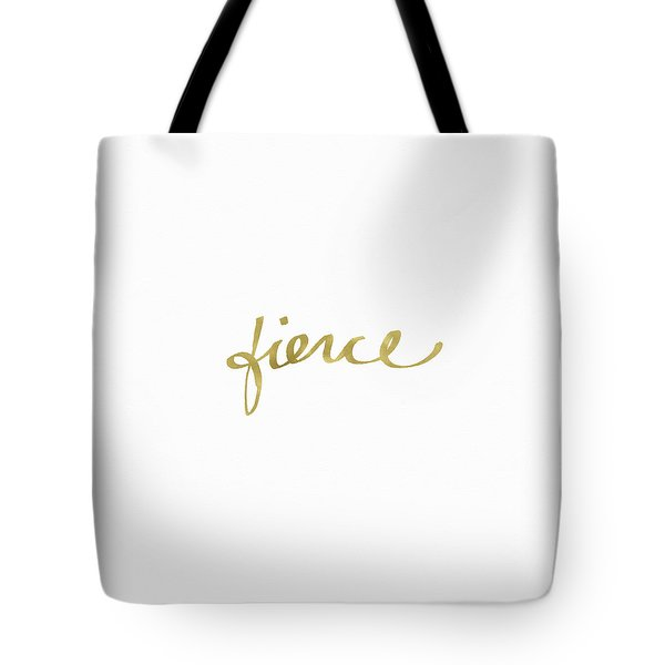 Fierce Gold- Art By Linda Woods Tote Bag