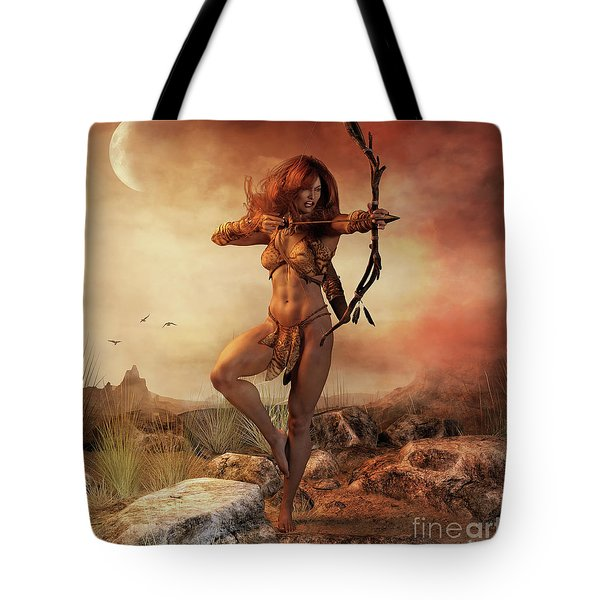 Tote Bag featuring the digital art Fierce by Shanina Conway