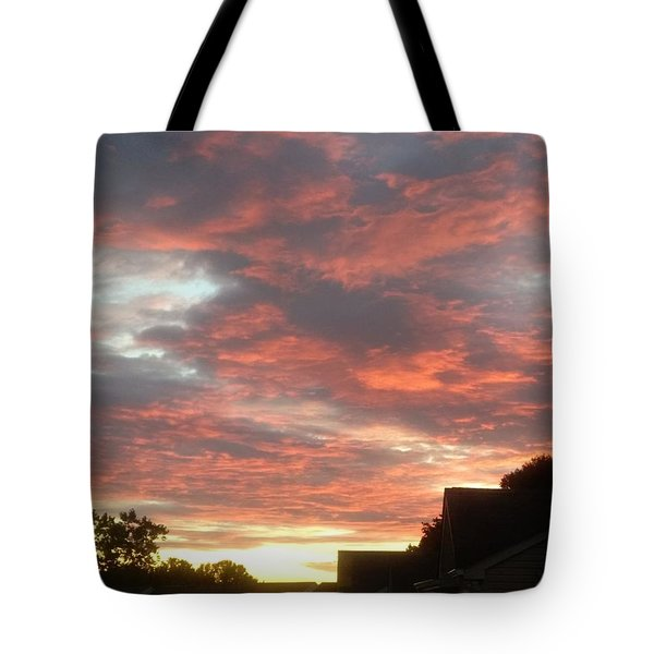 Fiery Clouds Tote Bag