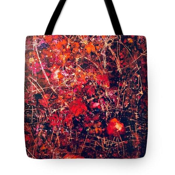 Fiery Crash Tote Bag