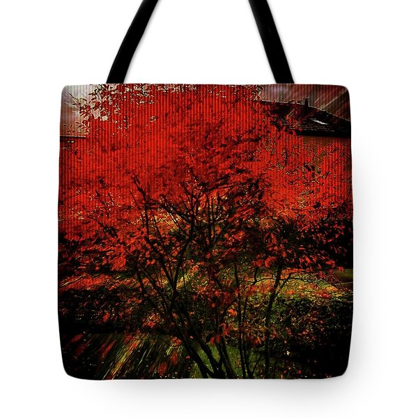 Tote Bag featuring the photograph Fiery Dance by Mimulux patricia no No