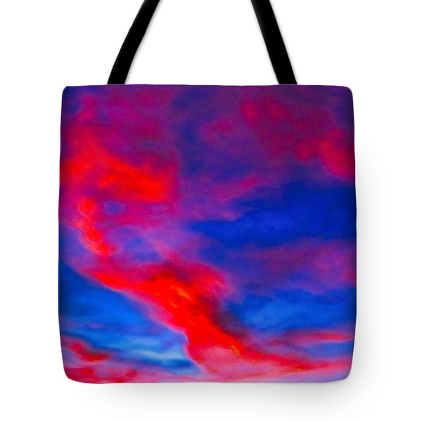Fiery Dragon Floating Tote Bag