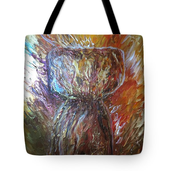 Fiery Earth Latte Stone Tote Bag
