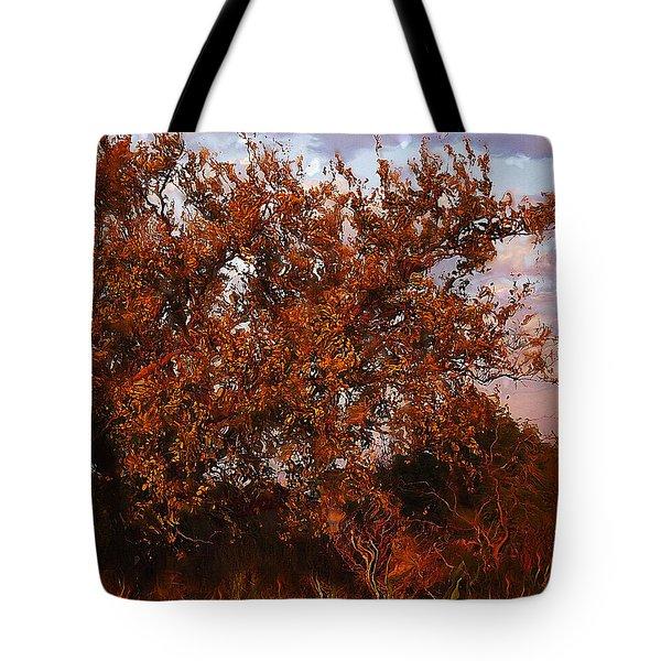 Fiery Elm Tree  Tote Bag