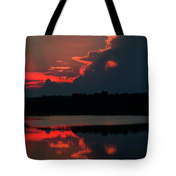 Fiery Evening Tote Bag