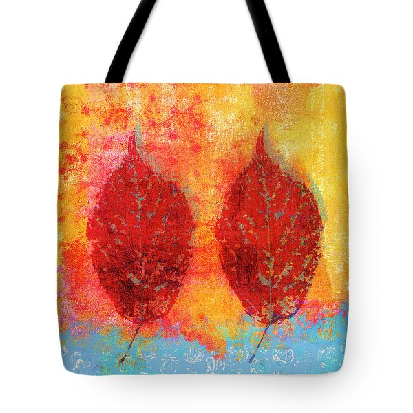 Fiery Fall Color Cherry Leaves Tote Bag