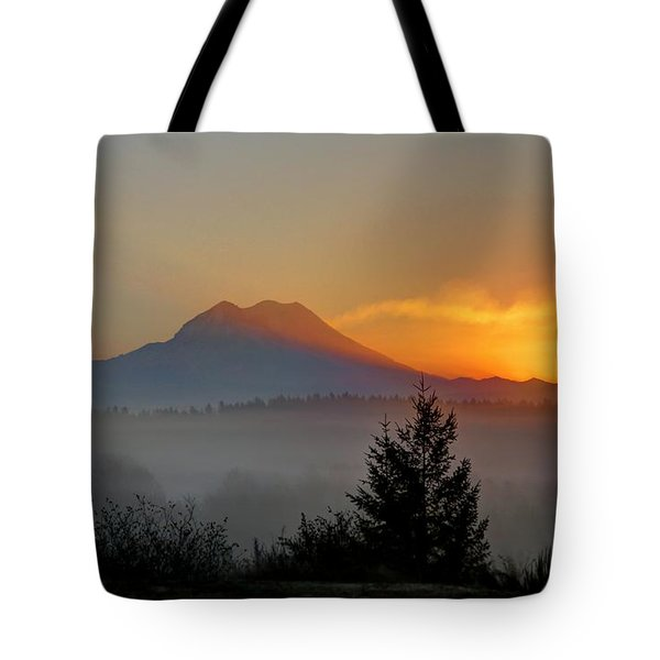 Fiery Fall Sunrise Tote Bag