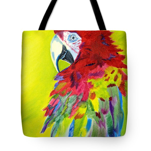 Fiery Feathers Tote Bag