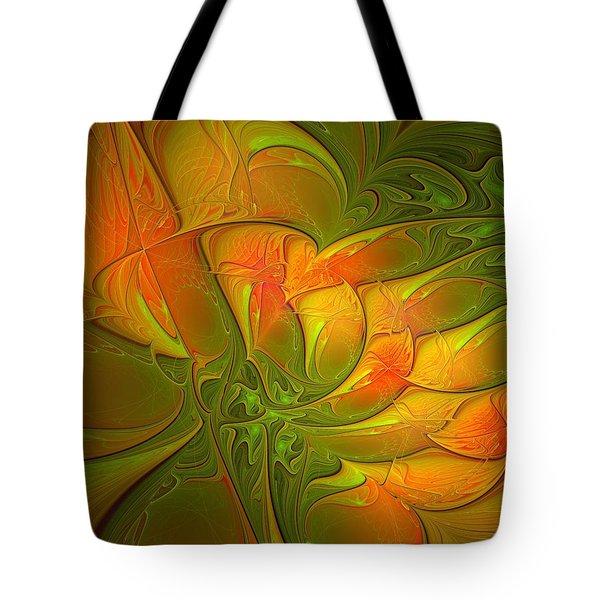 Fiery Glow Tote Bag by Amanda Moore