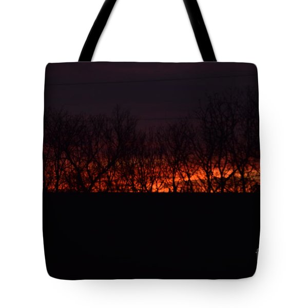 Fiery Kansas Sky Tote Bag