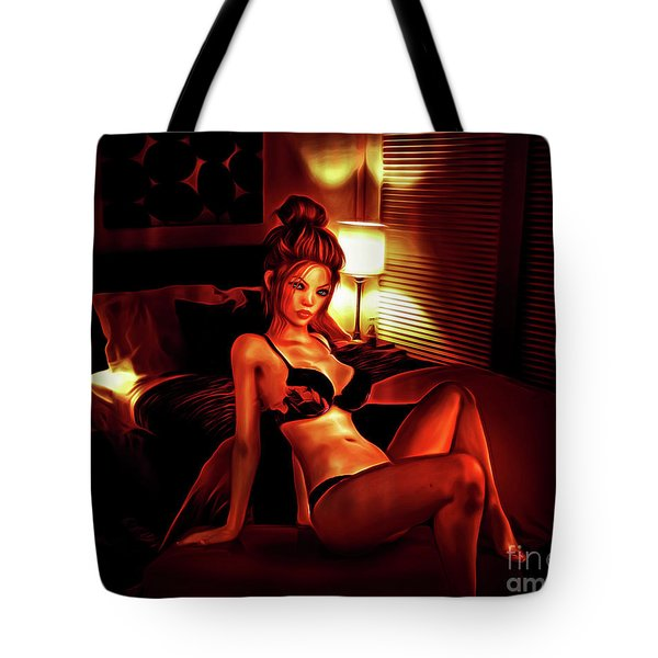 Fiery Nights Tote Bag