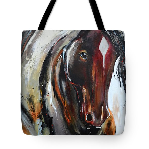 Tote Bag featuring the painting Fiery Red Head by Cher Devereaux