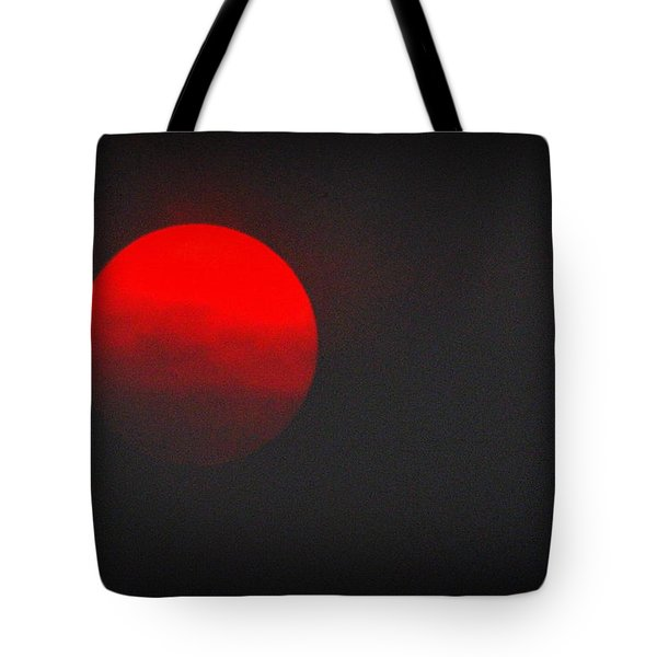 Tote Bag featuring the photograph Fiery Sun by AJ Schibig