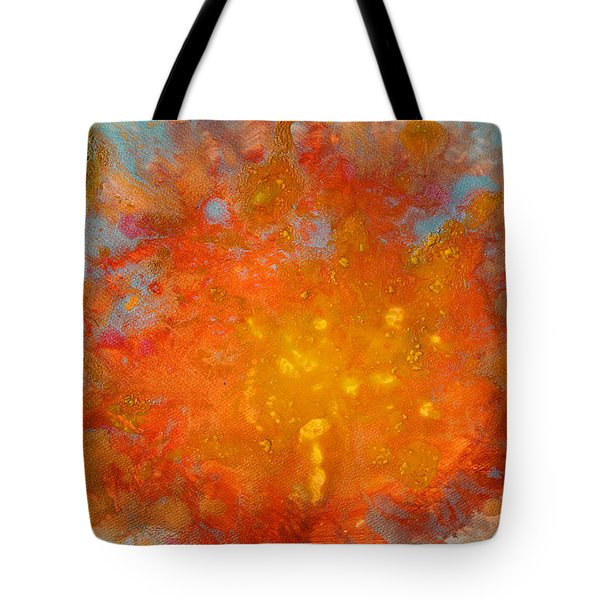 Fiery Sunset Abstract Painting Tote Bag