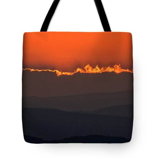 Fiery Sunset In The Luberon Tote Bag