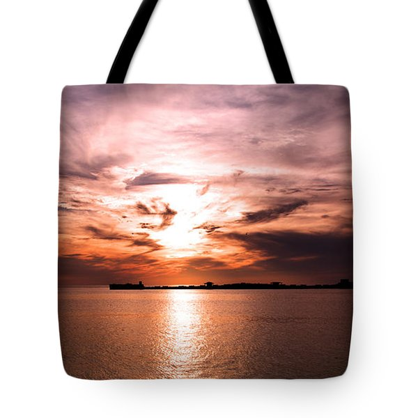 Fiery Tranquility  Tote Bag by Rebecca Davis