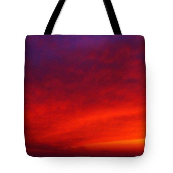 Fiery Vortex Tote Bag