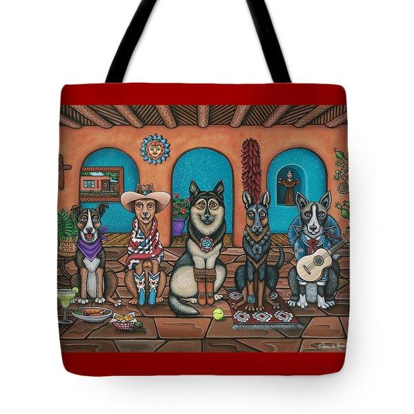 Fiesta Dogs Tote Bag