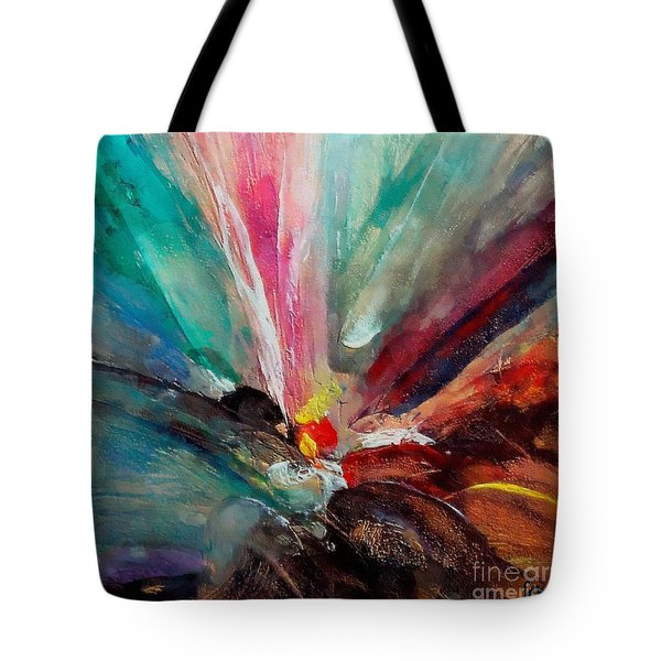 Tote Bag featuring the painting Fiesta  by Dragica  Micki Fortuna