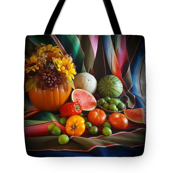 Tote Bag featuring the painting Fiesta Fall Harvest by Marilyn Smith