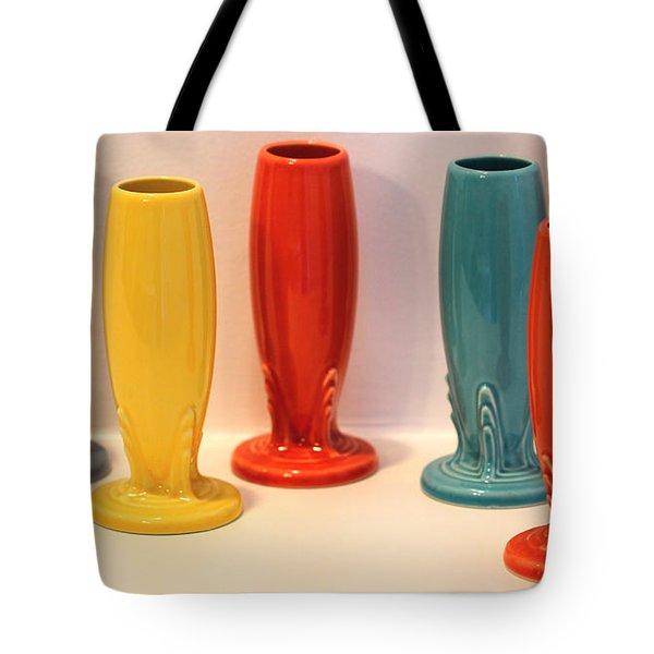 Fiestaware Bud Vases Tote Bag