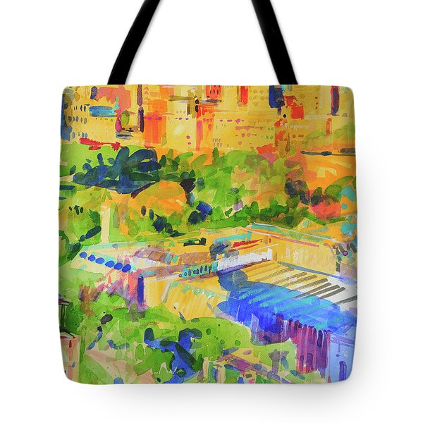 Fifth Avenue Shadows Over The Metropolitan Tote Bag