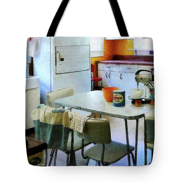 Fifties Kitchen Tote Bag by Susan Savad